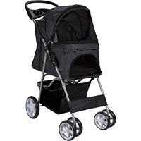 a6d550cfaf36 Product Image OxGord Paws   Pals Pet Stroller Cat Dog Easy Walk Folding  Travel 4-wheel