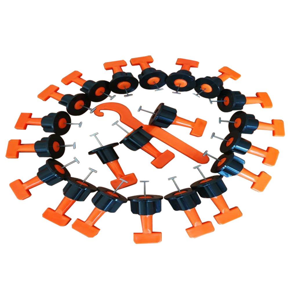 50Pcs Reusable Level Wedges Floor Wall Tile Leveler Locator Spacer with Wrench Multi Hand Tools LOadSEcrs Home Improvement Tools