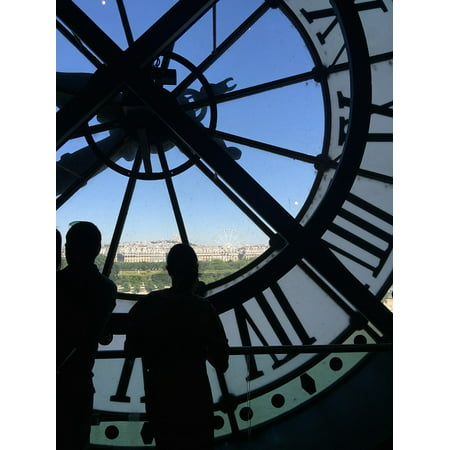 LAMINATED POSTER Paris Architecture Clock Tourism Time France Poster Print 24 x