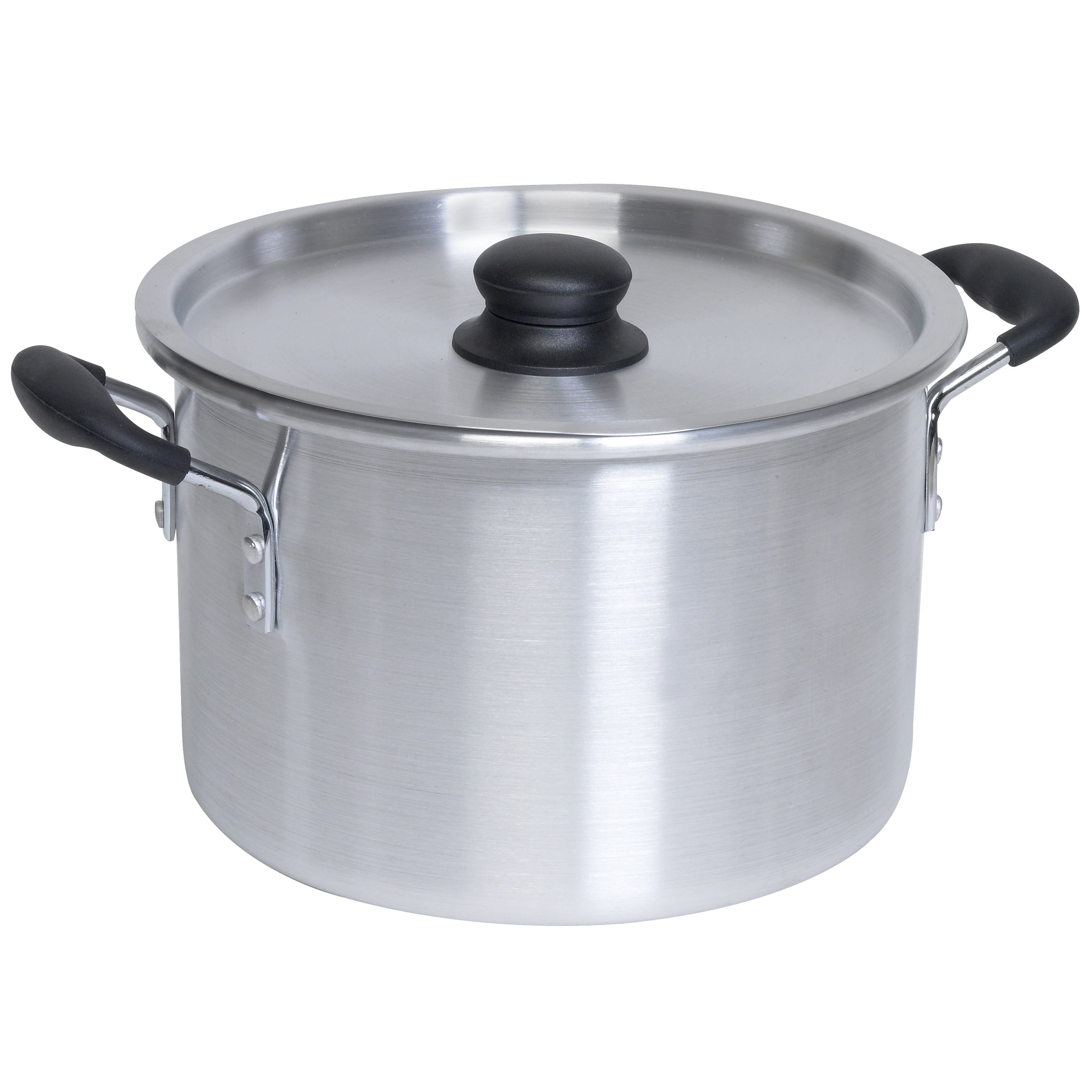 IMUSA Aluminum Stock Pot With Lid 8 Quart Silver
