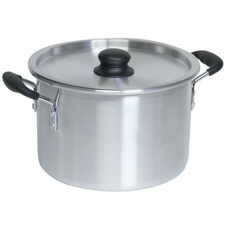 IMUSA USA 8 Quart Aluminum Stock Pot with Lid ()