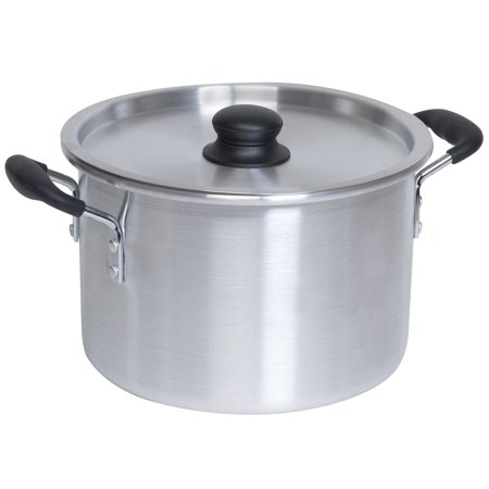 IMUSA USA 8 Quart Aluminum Stock Pot with Lid