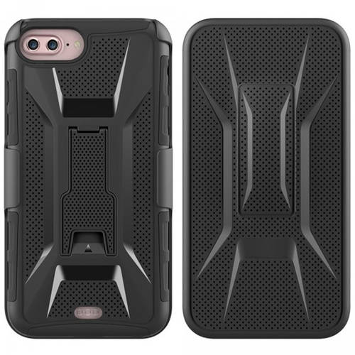 KIKO Wireless Ultra Slim Armor Holster Combo Belt Clip Case Secure Fit Shell Hard Back Protective TPU Shock-Absorbent Dual-Layer Cover with Kickstand for Apple iPhone 7