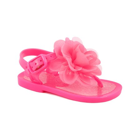 66ae300a7a96e Wee Kids Baby-Girls Sandals Jelly Shoes (Infant Shoes Baby Shoes) Girls  Summer Sandals Hot Pink Sz 7