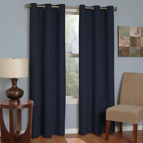 Microfiber Grommet Blackout Curtain Panel Beige, 95""