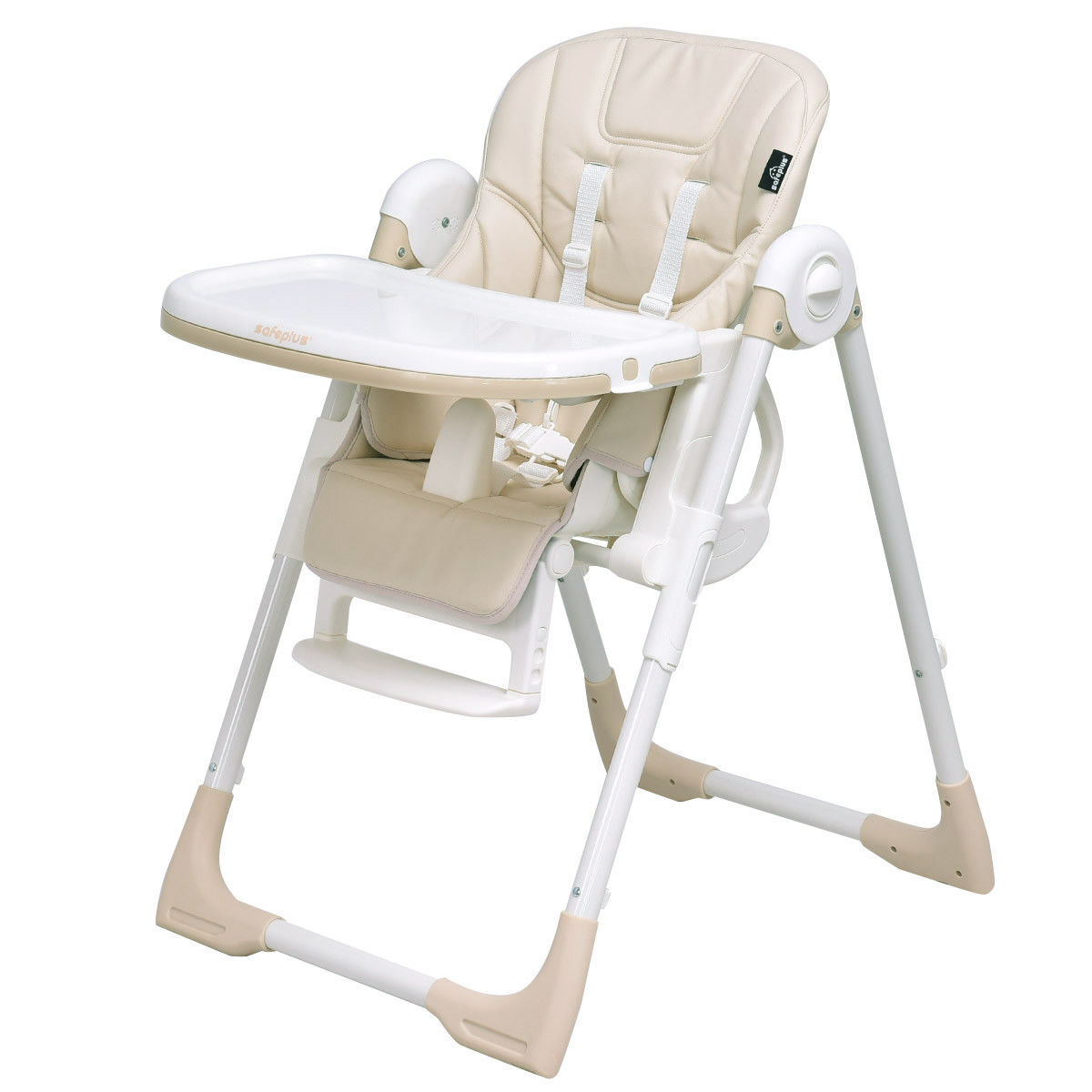 Safeplus Baby High Chair Infant Toddler Feeding Booster Folding Height Adjustable Recline by Costway