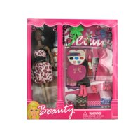 Bulk Buys OC747-4 Black Fashion Doll With Dress and Accessories