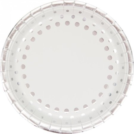 Creative Converting Sparkle And Shine Silver Banquet Plates, 8 ct