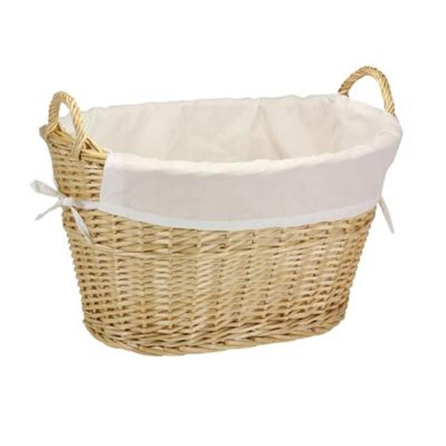 Household Essentials ML-5569 14.5 in. H Split Willow Natural Basket with Lining Handles