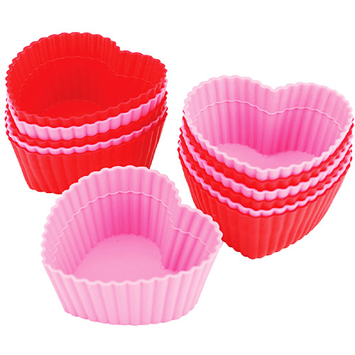 Wilton Silicone Standard Baking Cup Liner, Heart 12 ct. 415-9409