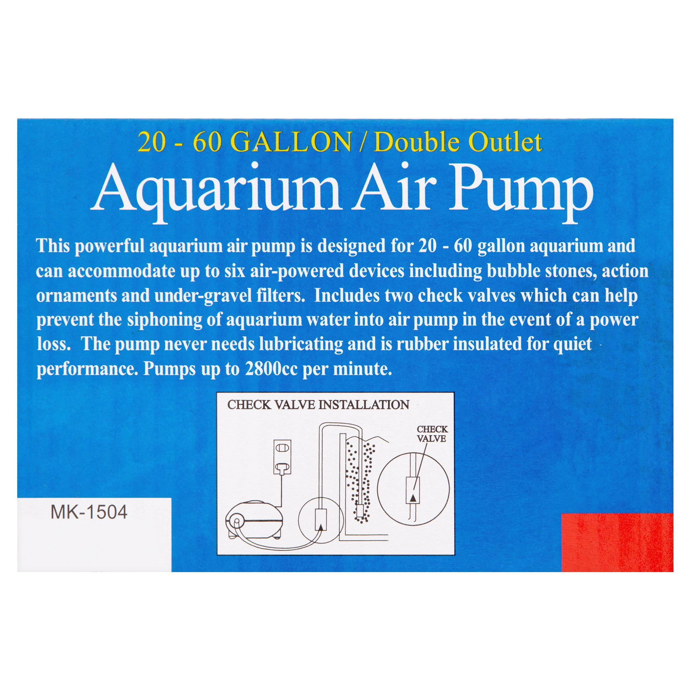 2e8d1772084 Aqua Culture 20-60-Gallon Double Outlet Aquarium Air Pump - Walmart.com