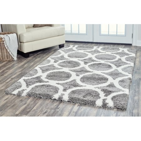 Rizzy Home DC9437 Gray 8' x 10' Hand-Tufted Area Rug ()