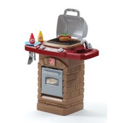 Step2 Fixin Fun Outdoor Toy Grill with 10 Piece Stack and Stay Hot Dog Play Set