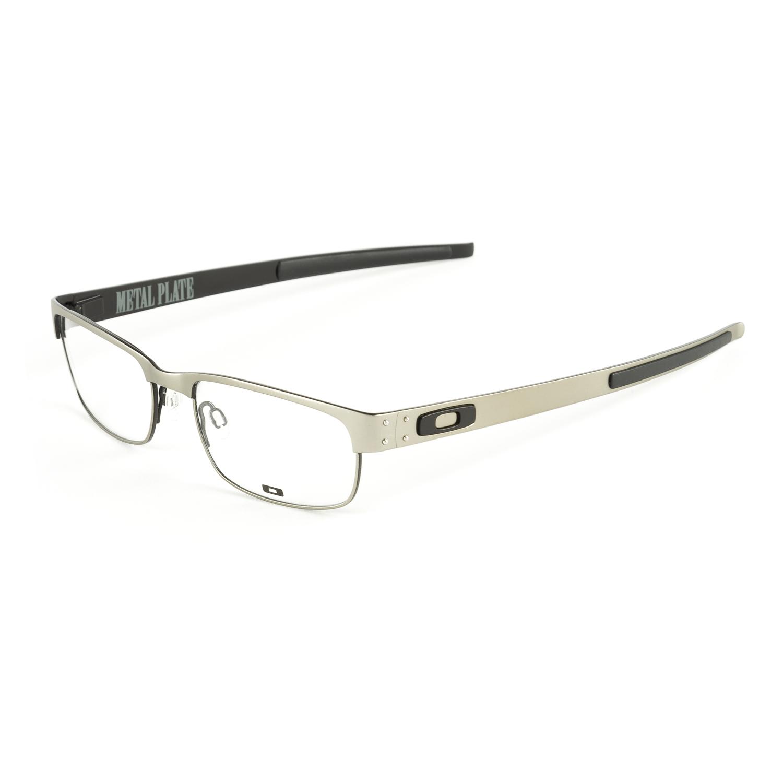 oakley s metal plate eyeglass frames 53mm light