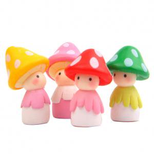 Fancyleo 4 Pcs Mushroom Doll Fairy Garden Kits Figurines for Miniatures Ornaments Fairies Gardens House Terrarium Kit Dollhouse Supplies DIY Outdoor Decorations ()