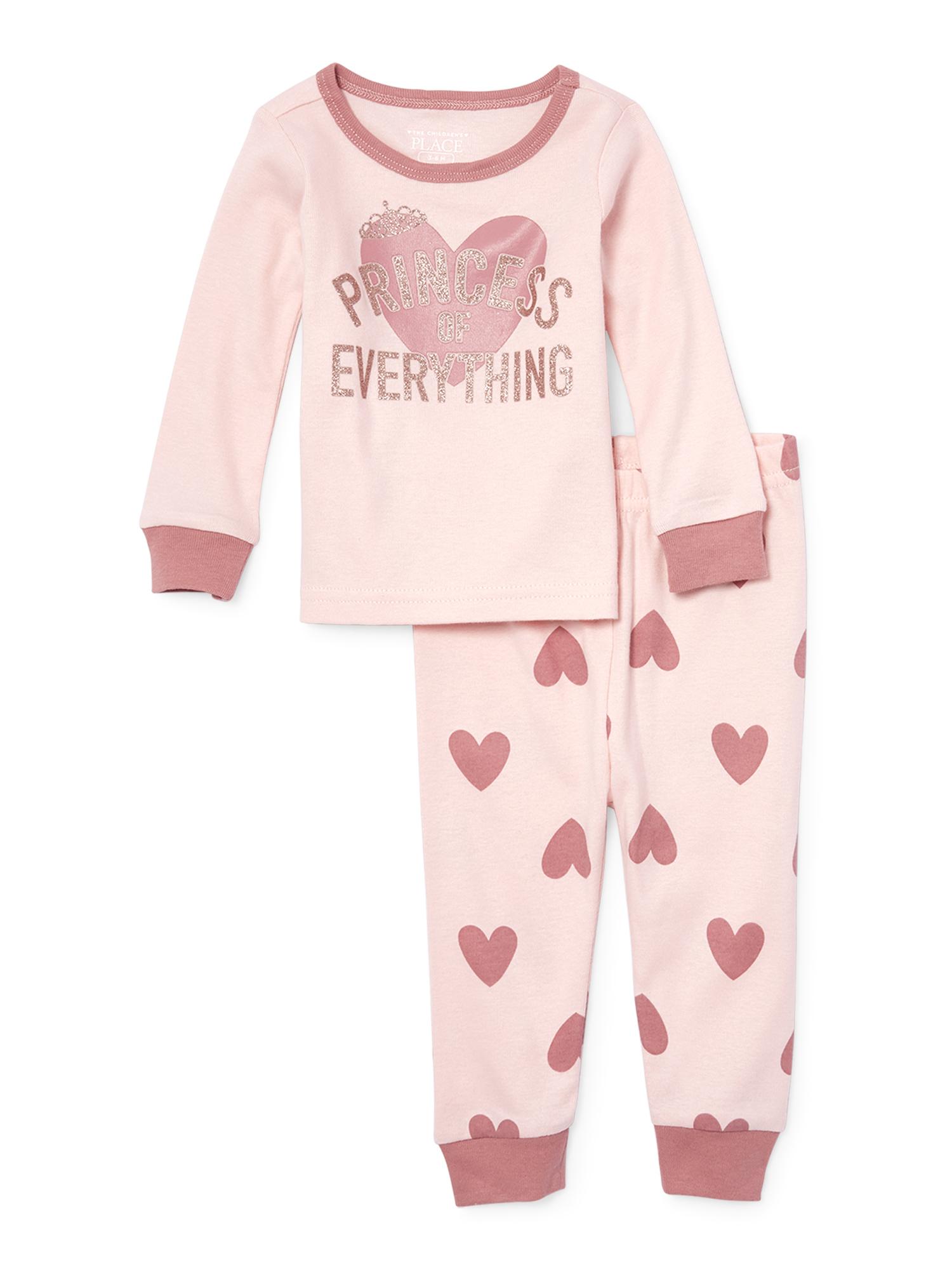 Short Sleeve Tight Fit Pajamas, 2-piece Set (Baby Girls & Toddler Girls)