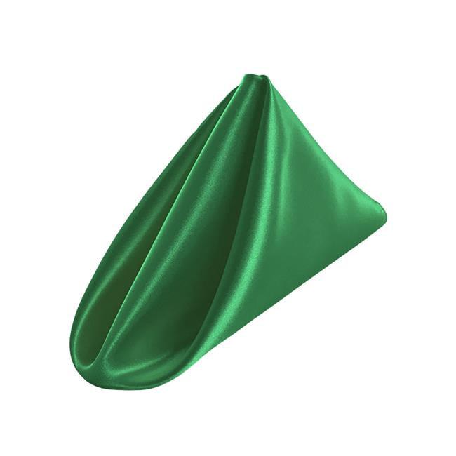1818bridal-10Pk-GreenKellyB32 Bridal Satin Napkins, Green Kelly - 18 x 18 in. - Pack of 10 - image 1 de 1