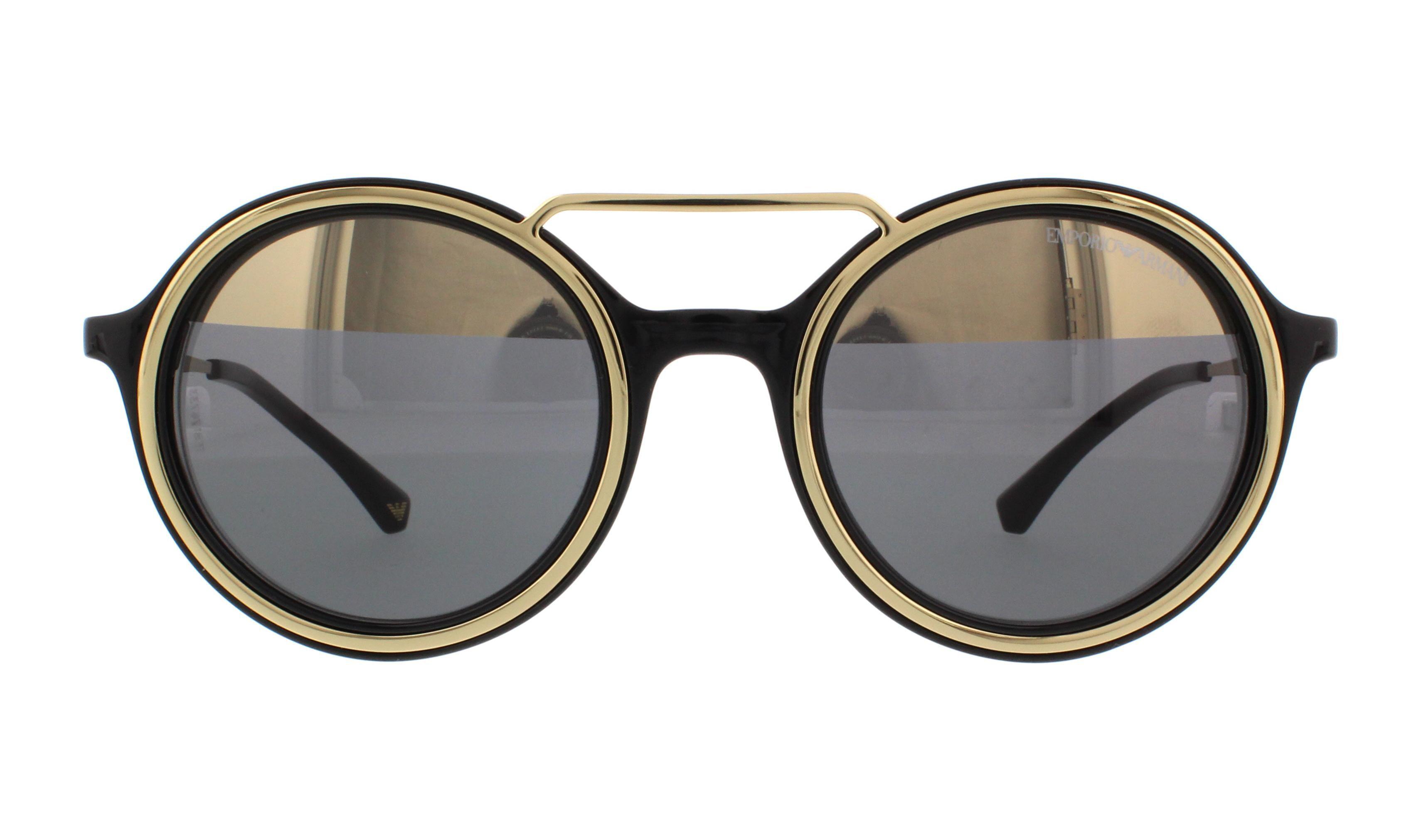 13727b5fe38c EMPORIO ARMANI Sunglasses EA 4062 50171Z Black/Pale Gold 49MM - Walmart.com