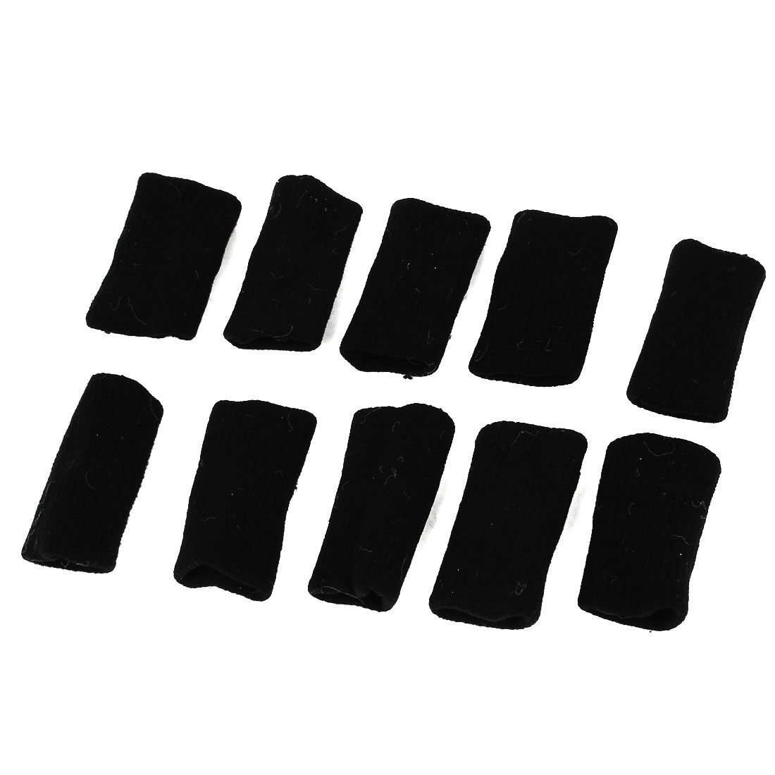 Unique Bargains 10 Pcs Outdoors Sports Training Stretchy Finger Sleeve Protector Guard