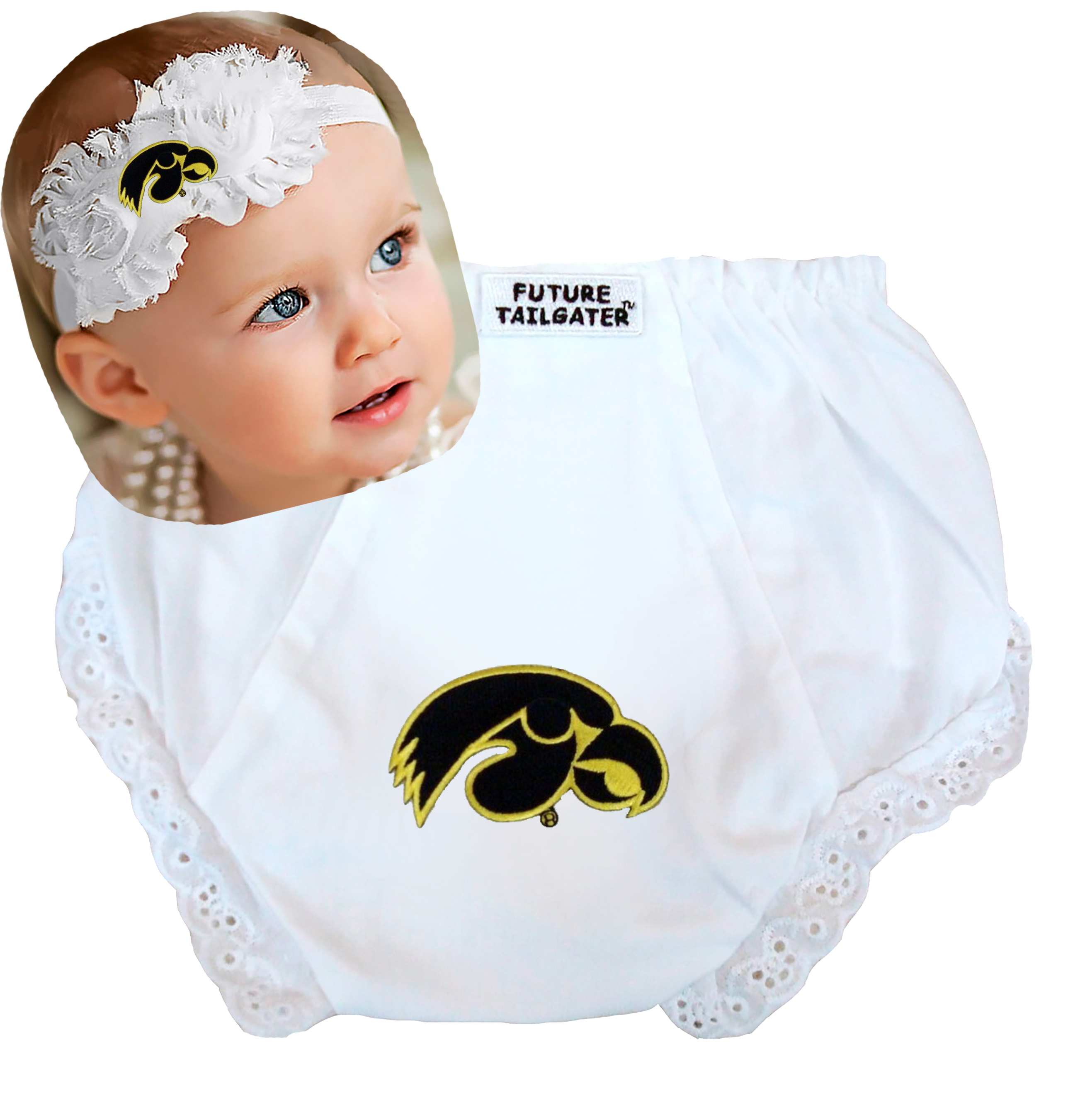Iowa Hawkeye Top to Bottom Baby Gift Set