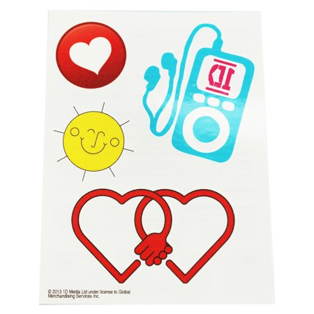 One Direction Assorted Design Temporary Tattoos (MP3 Player)