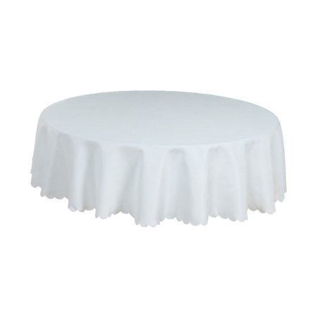 Washable Stain Resistant Polyester Round Tablecloth 63