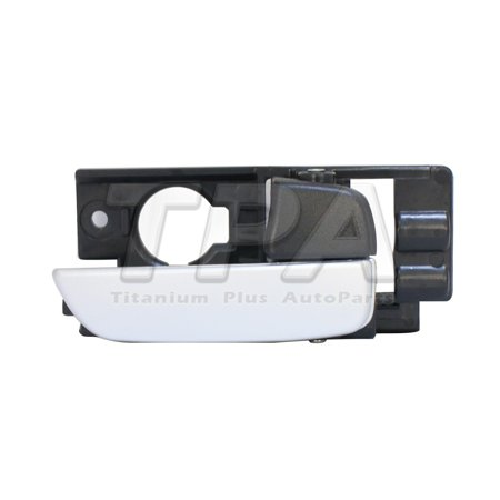 2007,2008,2009,2010,2011 Hyundai Accent Front,Right DOOR INNER HANDLE SILVER LEVER + BLACK HOUSING,WITH KEYLESS ENTRY HATCH