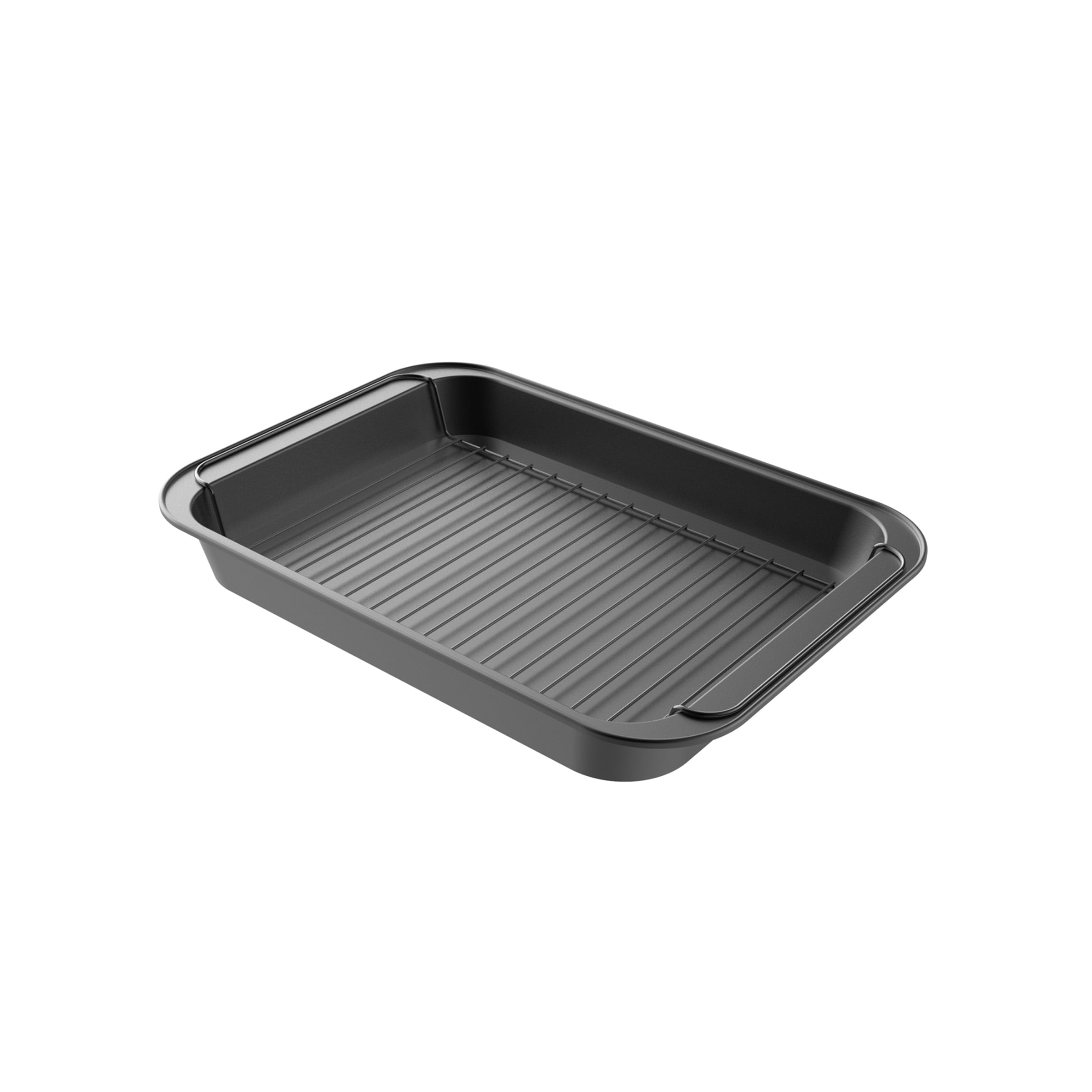 Farberware Buena Cocina Nonstick Roaster with Rack 15-Inch x 11-Inch Gray
