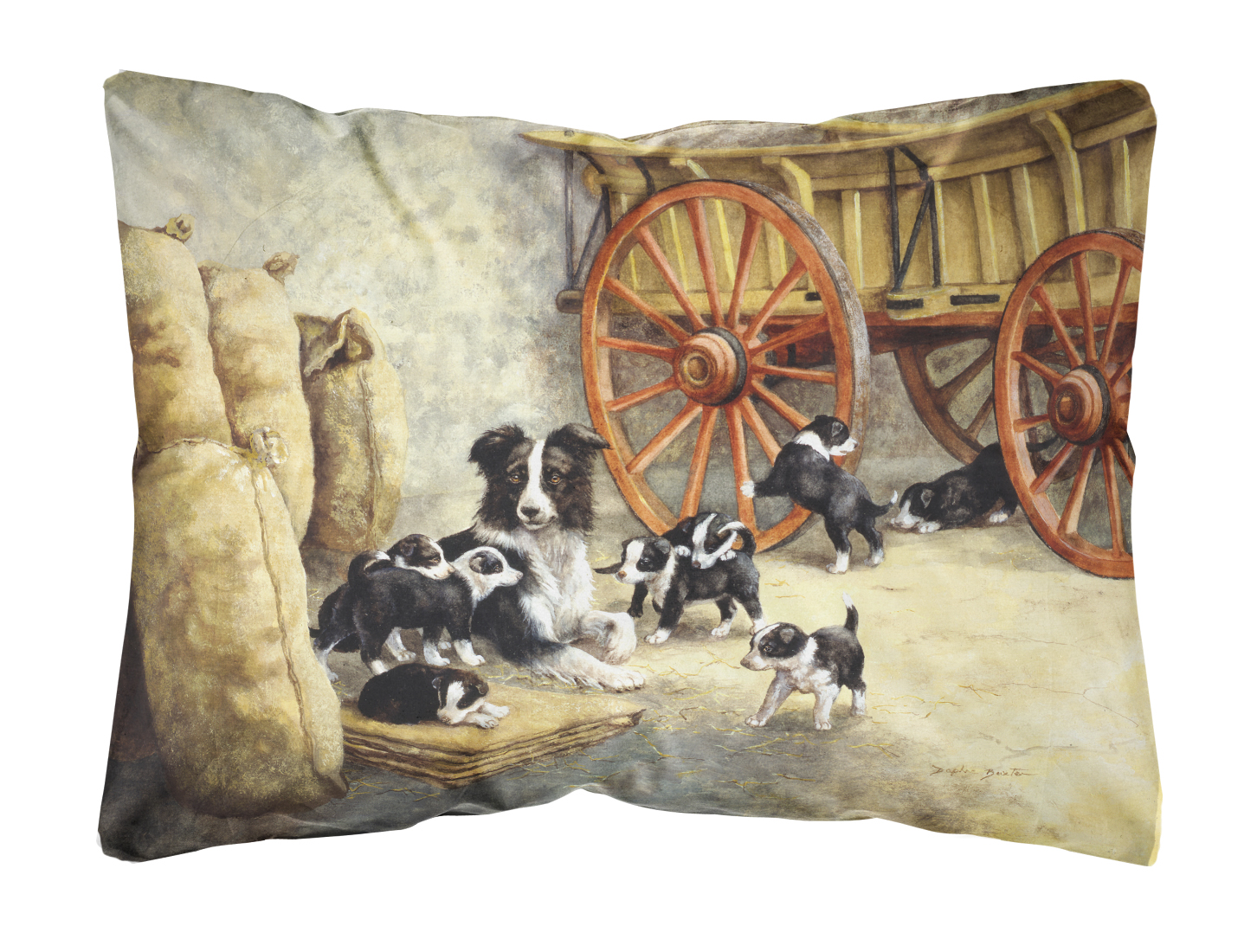 Border Collie Dog Litter Fabric Decorative Pillow Walmart Com Walmart Com