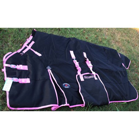 1200D Turnout Waterproof Horse Tough WINTER BLANKET HEAVY Black -