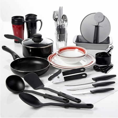 Gibson home complete kitchen 38 piece combo set for Full set kitchen