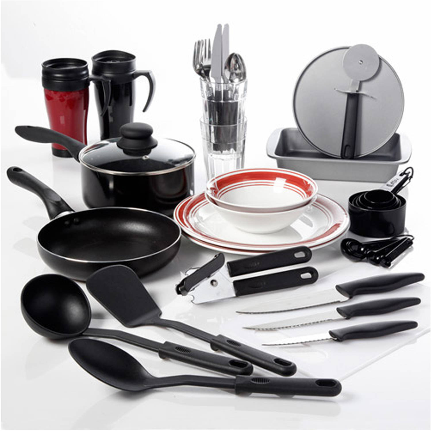 gibson home dorm kitchen 38-pc. combo set