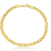 14K Solid Mariner Anklet Gold