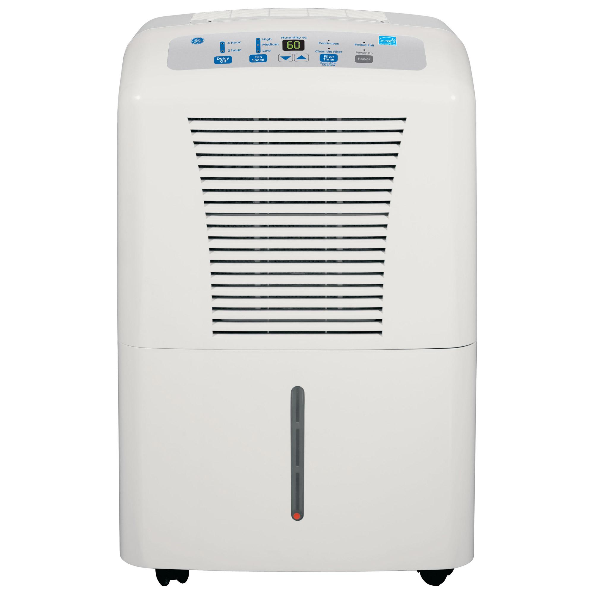 Walmart Dehumidifier Filters ge 70-pint dehumidifier for basements w/drain, white, adew70lr