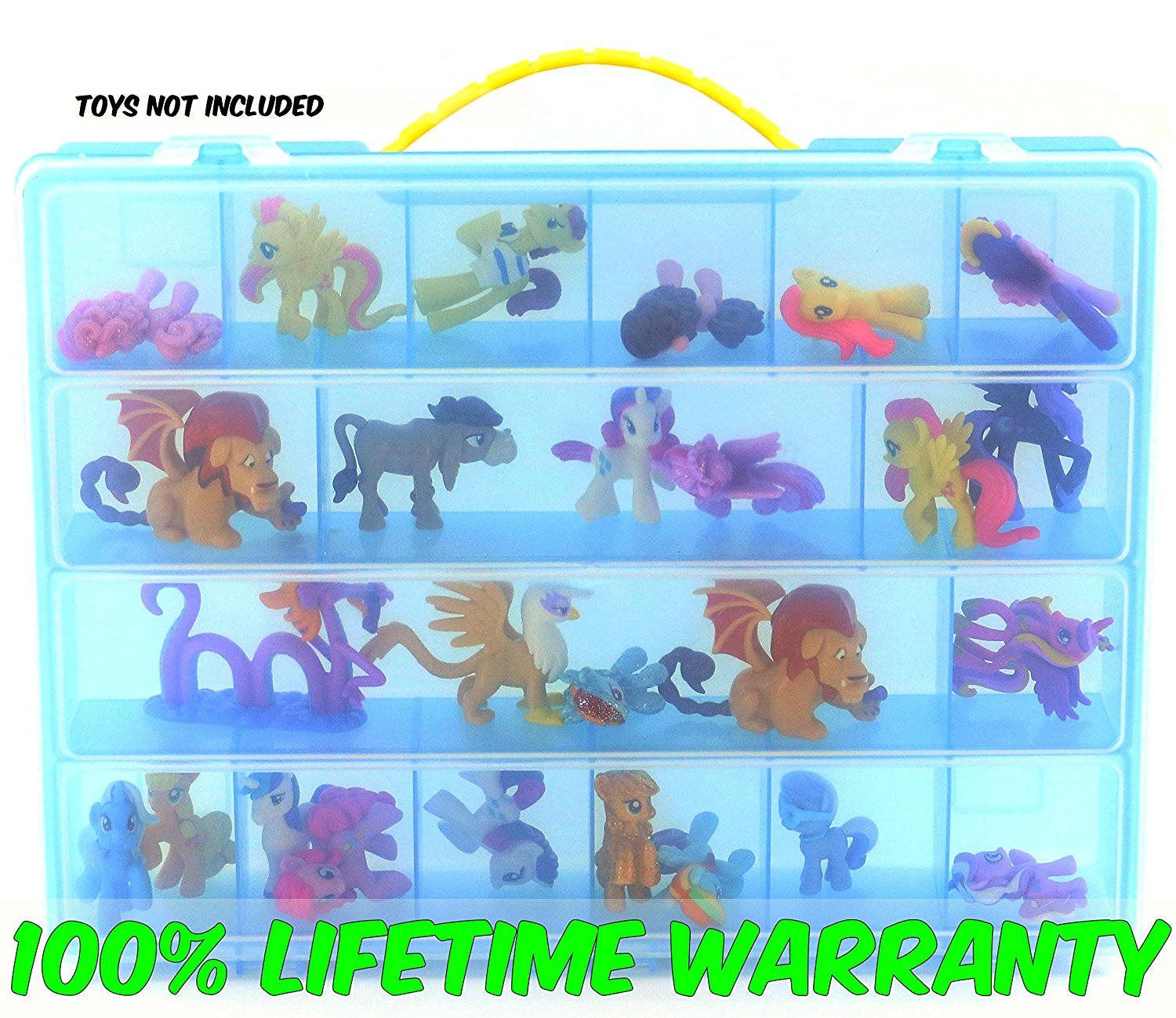 My Little Pony Case, Toy Storage Carrying Box. Figures Playset Organizer. Accessories For... by Life Made Better