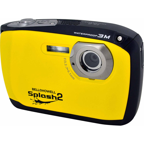 Bell+Howell Yellow Splash2 WP16 Digital Camera with 16 Megapixels and 4x Digital Zoom