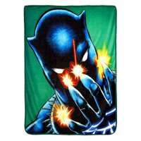 "Black Panther,Power of Claws Micro Raschel Throw Blanket, 46"" x 60"""
