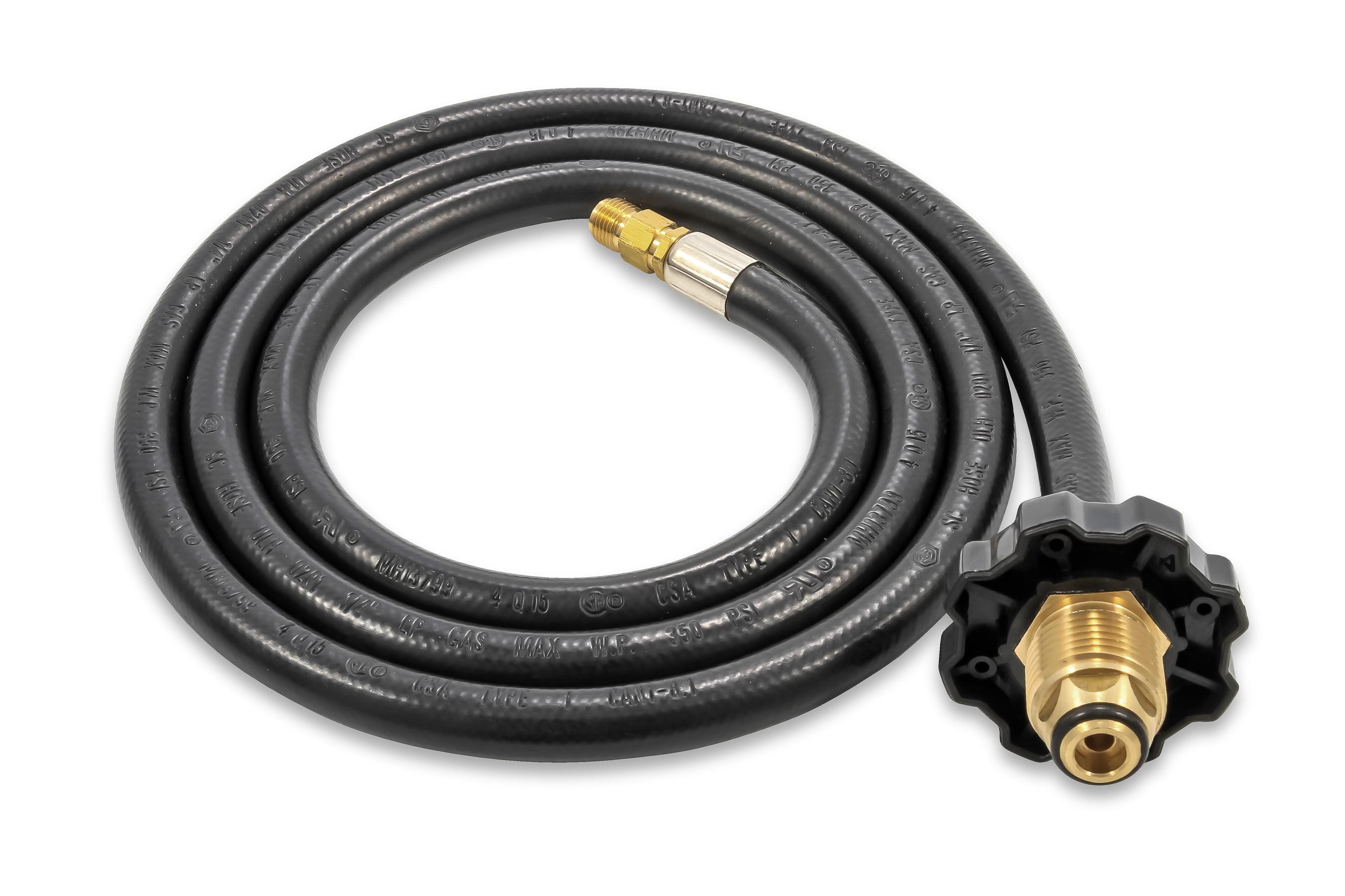 "2x Adapter for 1//4/"" 2,5m Propane Gas Hose 6,3x3,5mm Medium Pressure 3//8/"" Links"