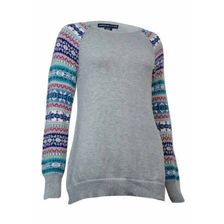 American Living Women's Fair-Isle Crewneck Sweater American Eagle Cotton Sweater