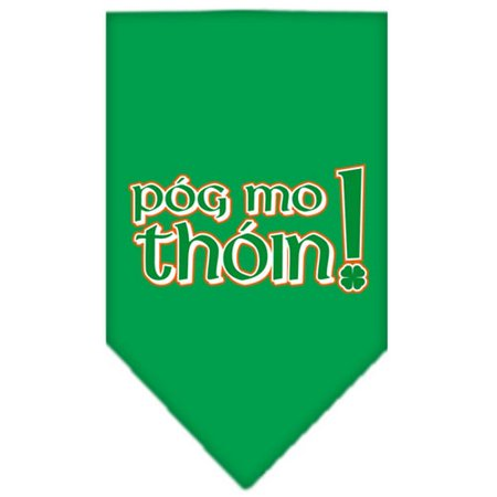 Pog Mo Thoin Screen Print Bandana Emerald Green Large