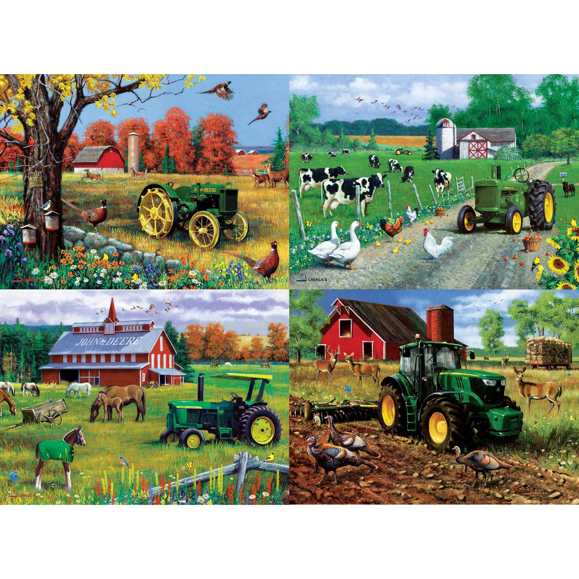 MasterPieces John Deere 4-Pack 500 Piece Puzzle by MasterPieces
