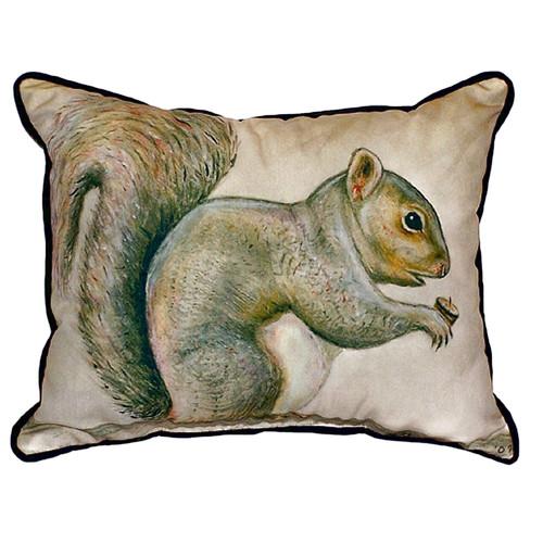 Betsy Drake Interiors Squirrel Indoor/Outdoor Lumbar Pillow