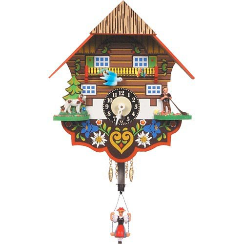 Black Forest Bouncing Girl as Pendulum Cuckoo Clock by Black Forest