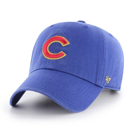 Chicago Cubs '47 2017 Gold Program Cleanup Adjustable Hat - Royal - OSFA - Halloween Chicago 2017 Bars