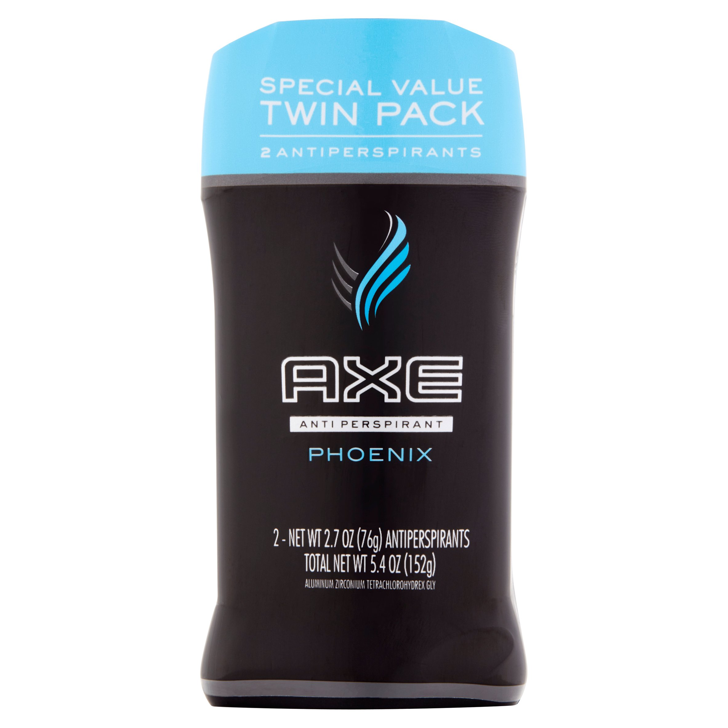 AXE Phoenix Antiperspirant Deodorant Stick for Men 2.7 oz, Twin Pack