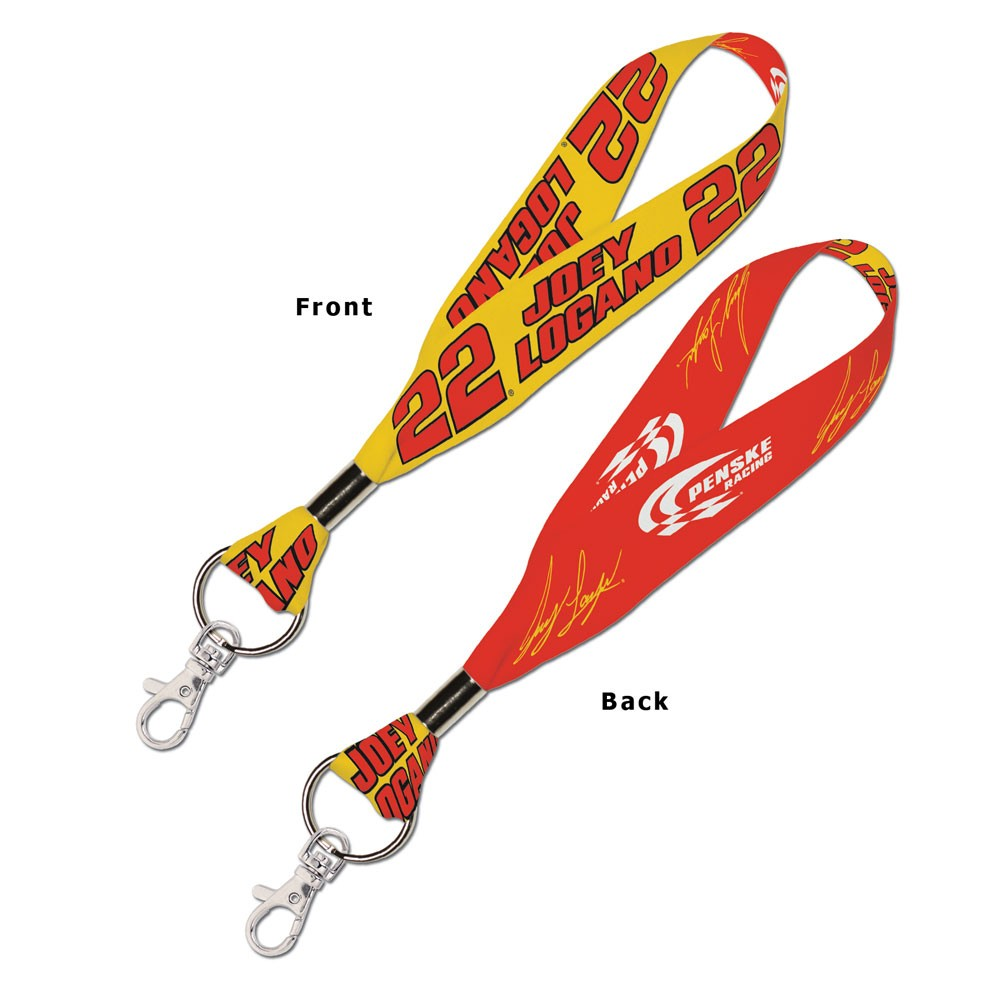 Joey Logano Official NASCAR 8 inch  Lanyard Key Chain Keychain by Wincraft