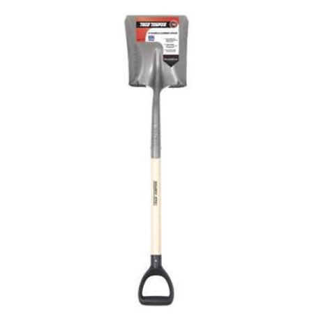 True Temper Power Step D-Style Handle Square Point Scooping Shovel