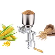 Grain Mill Grinder Kit with Cast Iron of Large Funnel for Manual Coffee Grain Corn Wheat Home