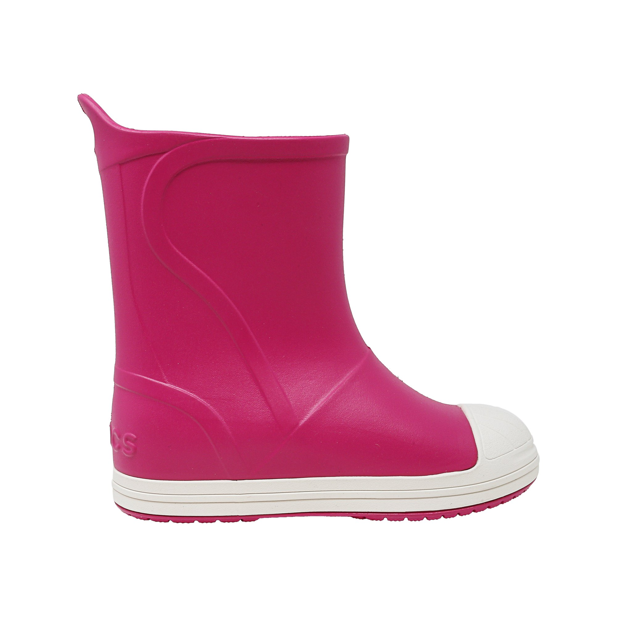 feb282656 Buy Crocs Bump It Boot Candy Pink - Oyster Mid-Calf Rain - 13M ...