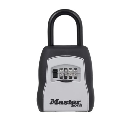 Master Lock Key - Master Lock 5400D Set Your Own Combination Portable Lock Box, 5 Key Capacity, Black